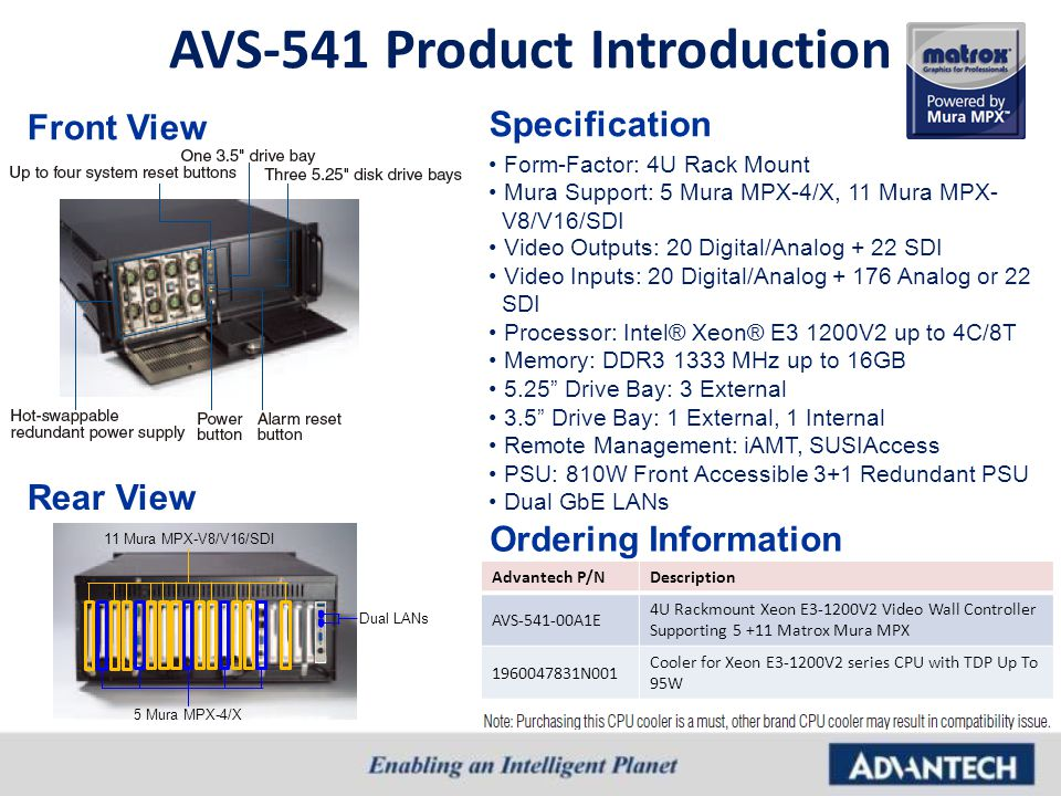 AVS-541 Product Introduction