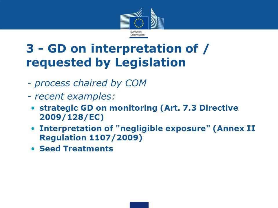 3 - GD on interpretation of / requested by Legislation