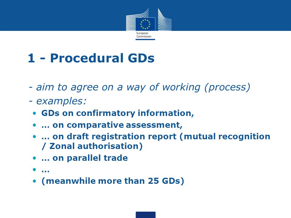 1 - Procedural GDs - aim to agree on a way of working (process)