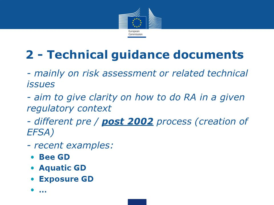 2 - Technical guidance documents