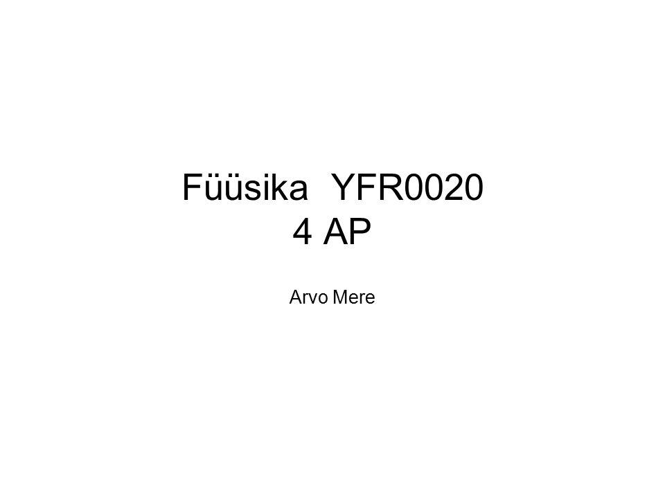 Füüsika YFR0020 4 AP Arvo Mere