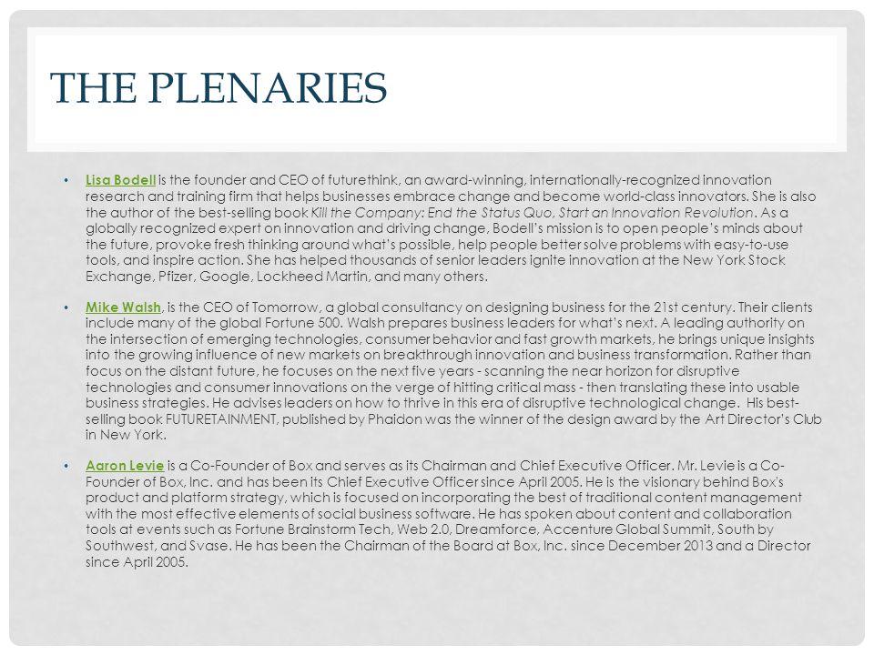 The Plenaries