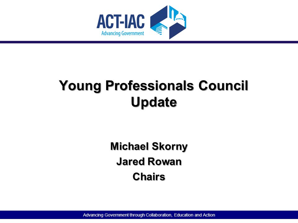 Young Professionals Council Update