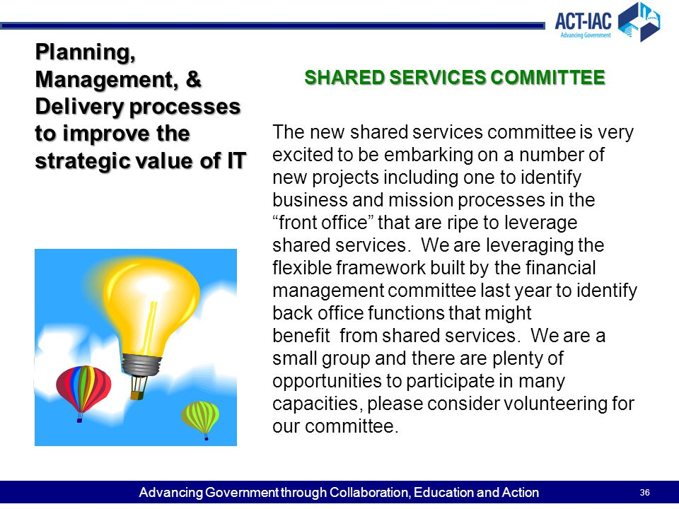 SHARED SERVICES COMMITTEE