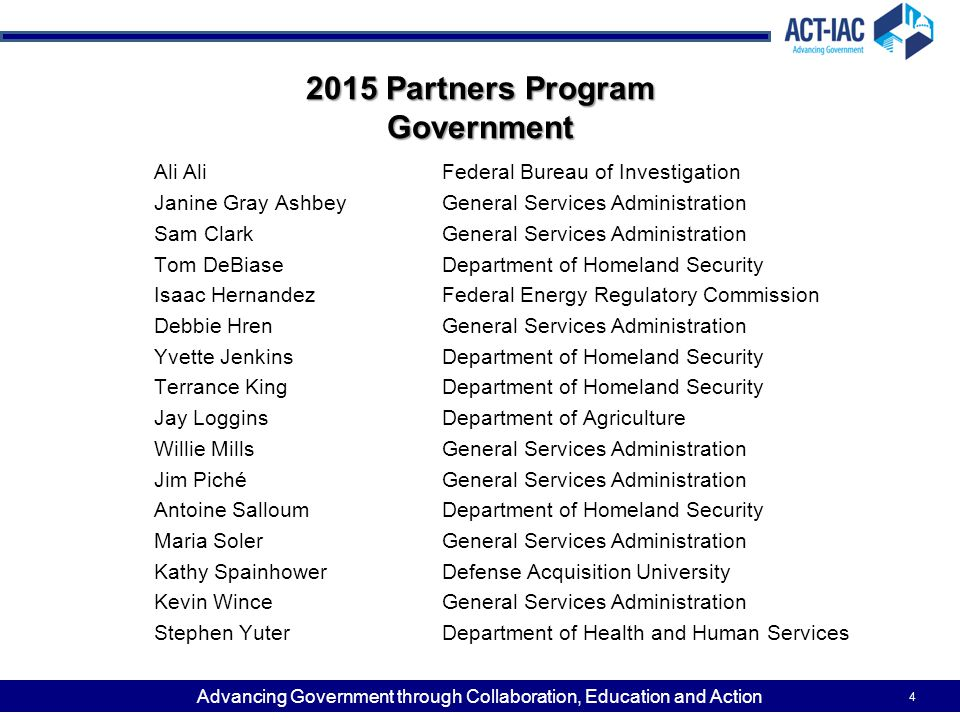 2015 Partners Program Government