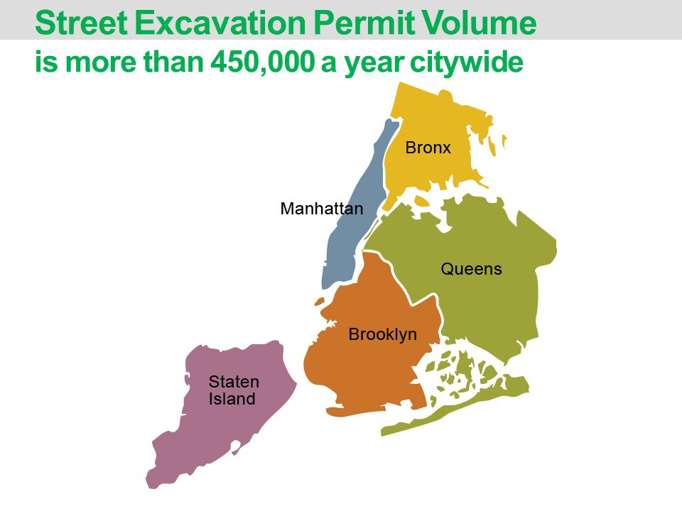 Street Excavation Permit Volume is more than 450,000 a year citywide