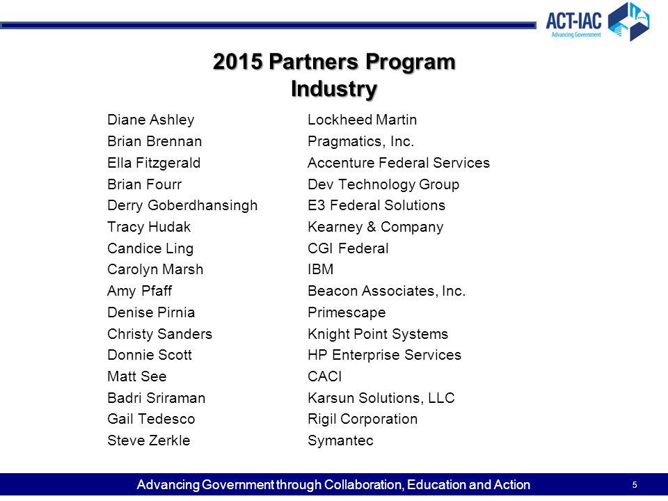 2015 Partners Program Industry