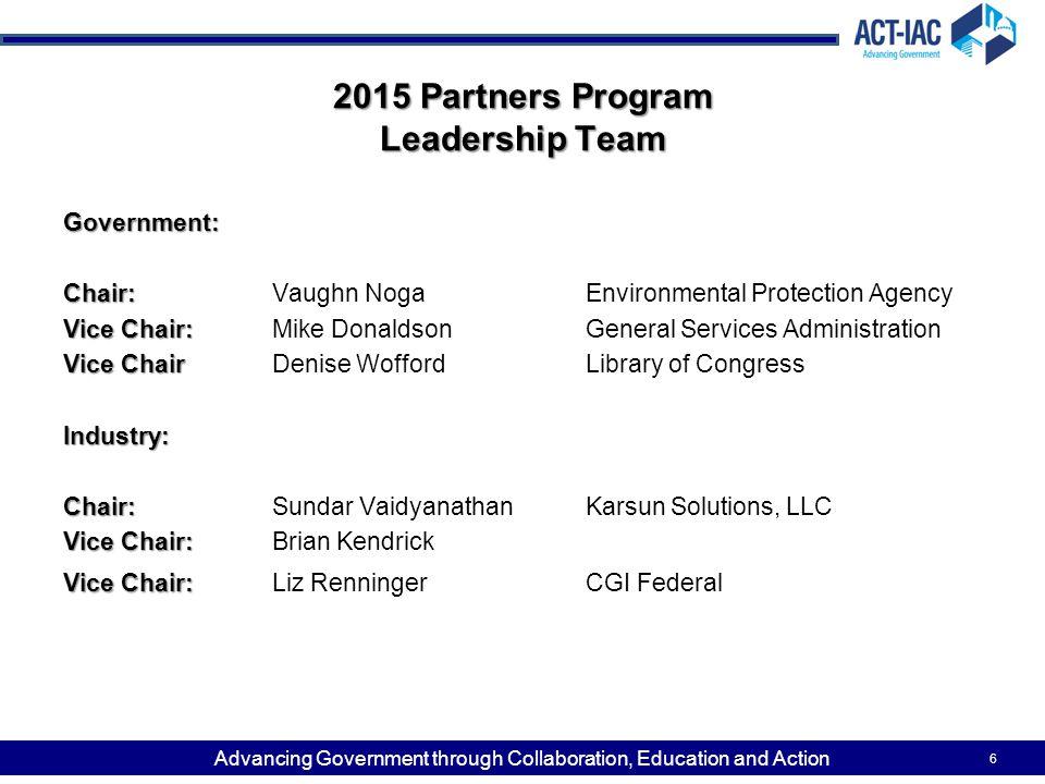 2015 Partners Program Leadership Team