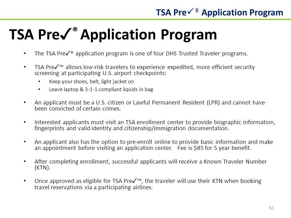 TSA Pre✓® Application Program