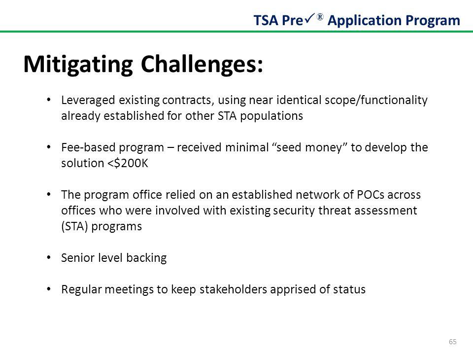 Mitigating Challenges: