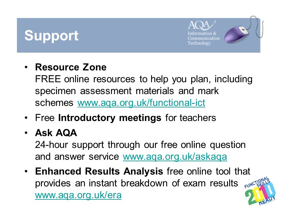 Support Resource Zone.