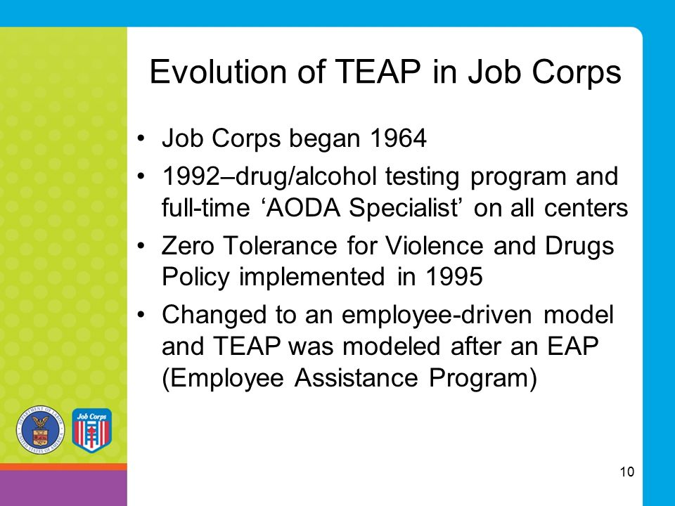 Evolution of TEAP in Job Corps