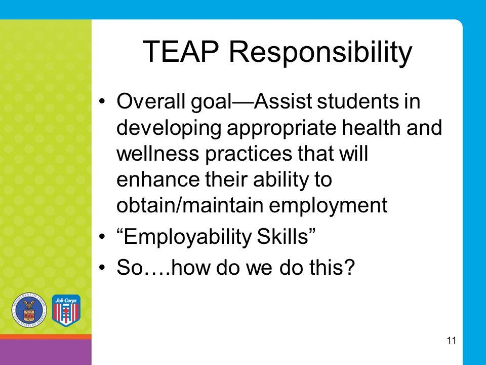 TEAP Responsibility