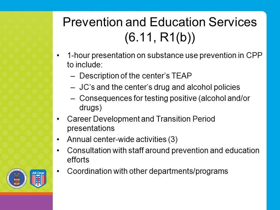 Prevention and Education Services (6.11, R1(b))