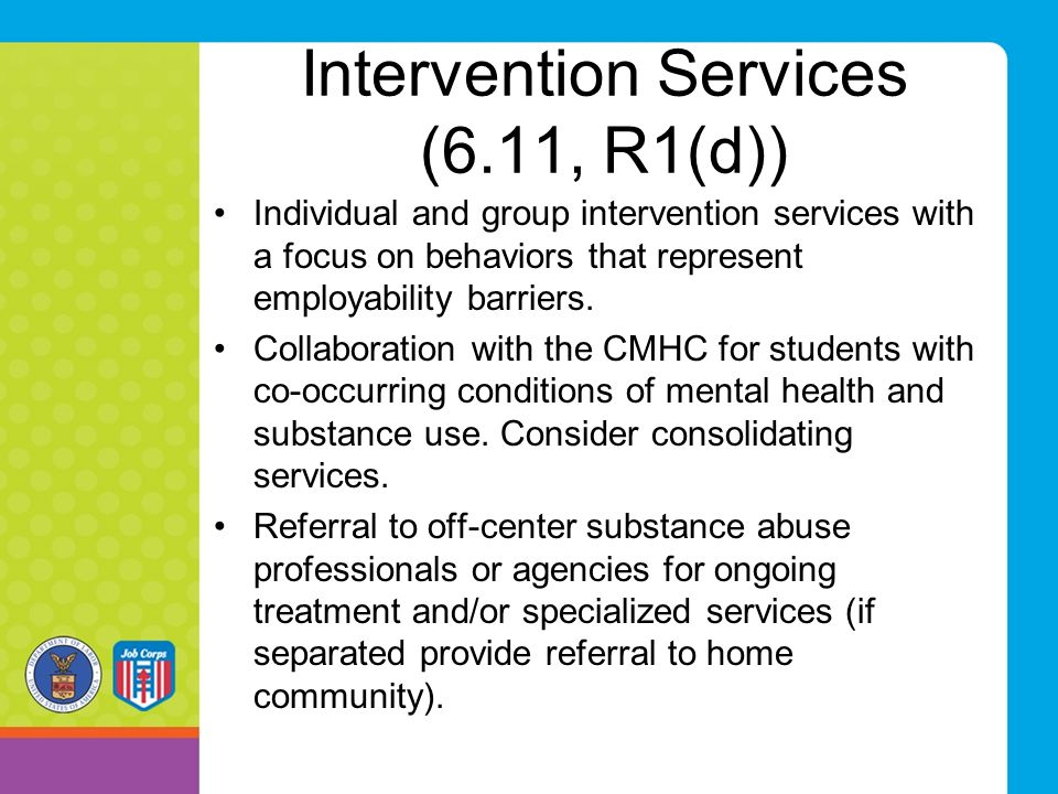 Intervention Services (6.11, R1(d))