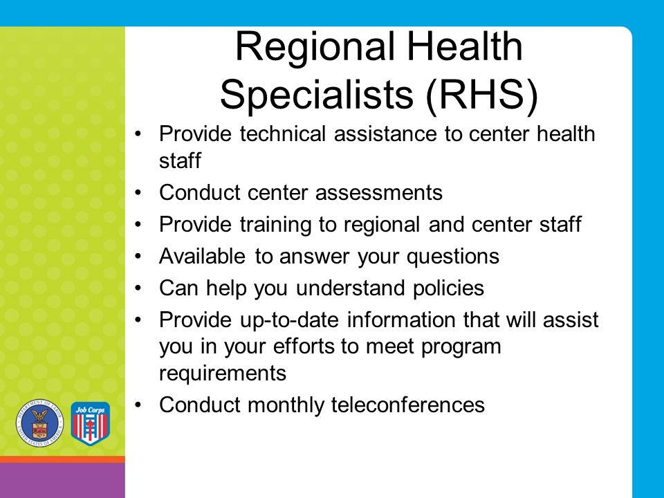 Regional Health Specialists (RHS)