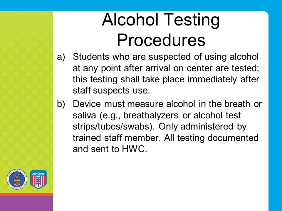 Alcohol Testing Procedures