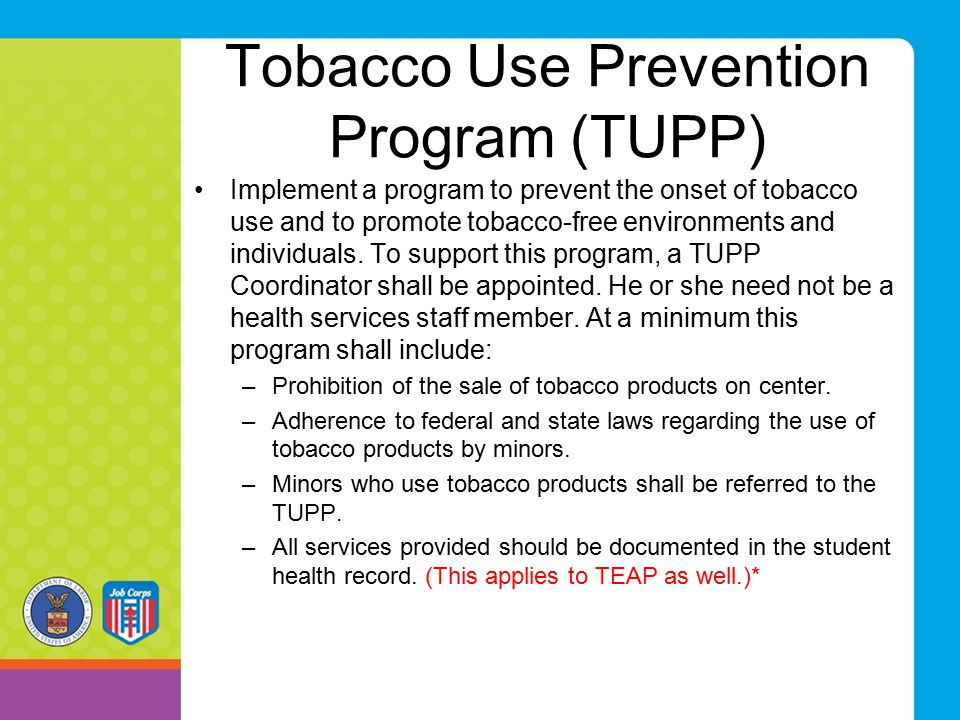 Tobacco Use Prevention Program (TUPP)