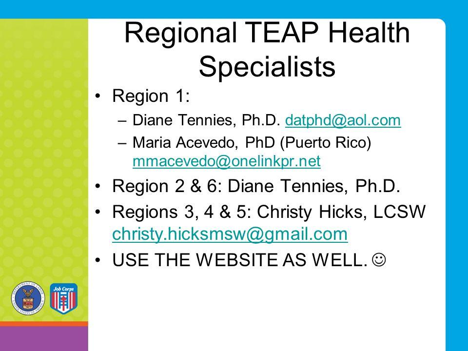 Regional TEAP Health Specialists