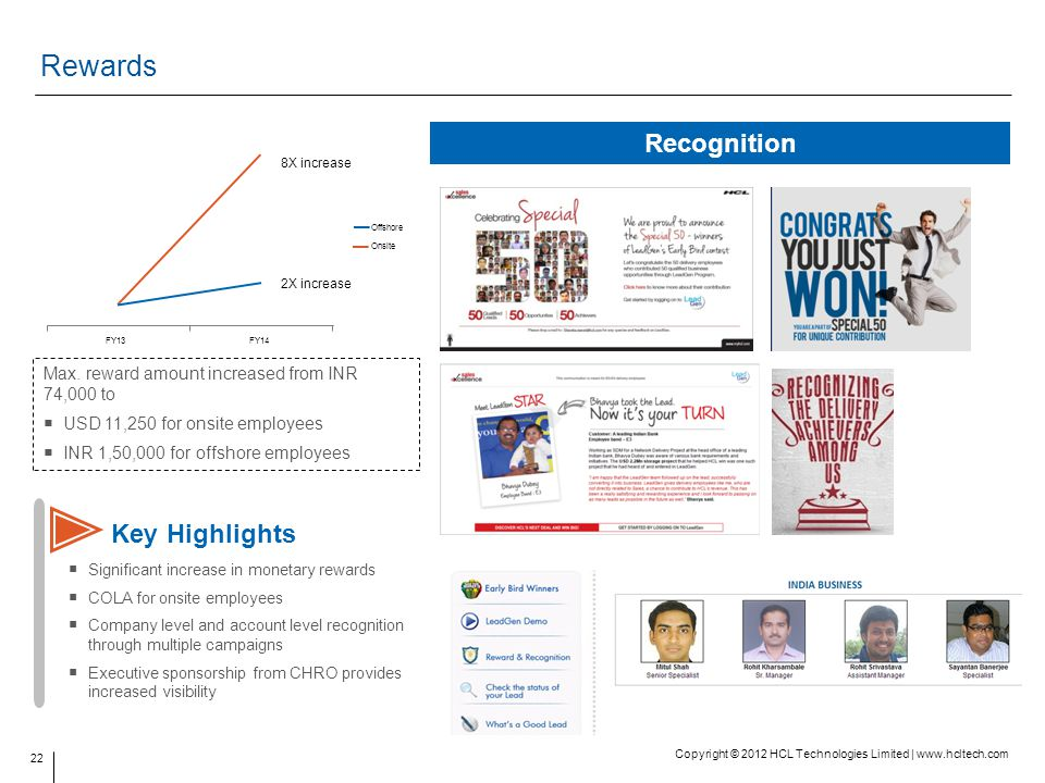 Rewards Recognition Key Highlights