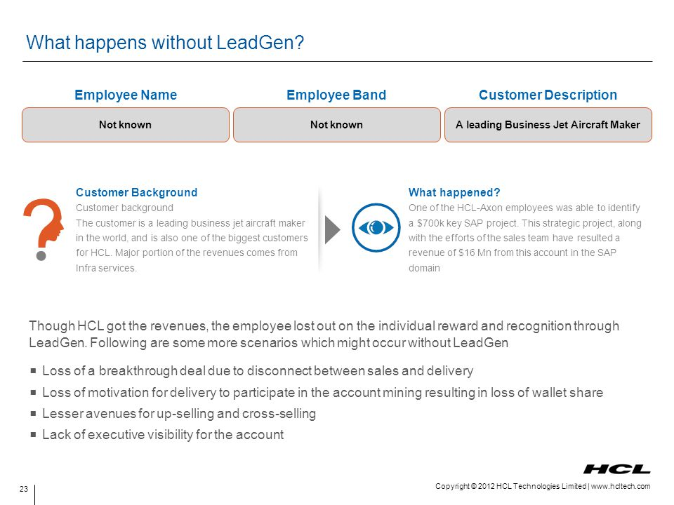 What happens without LeadGen