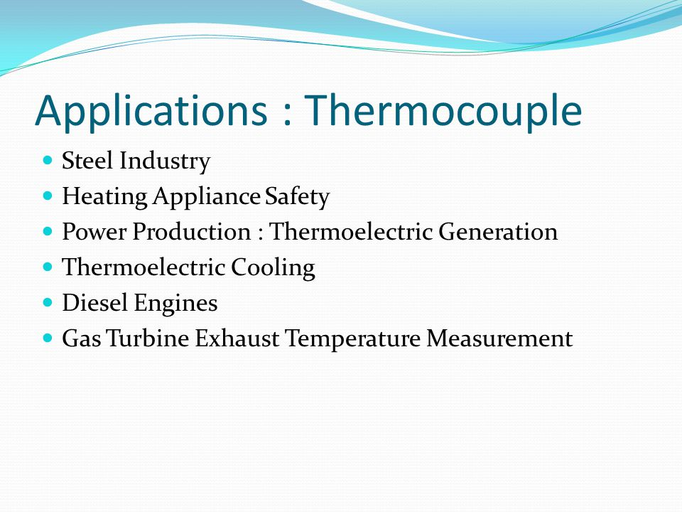 Applications : Thermocouple
