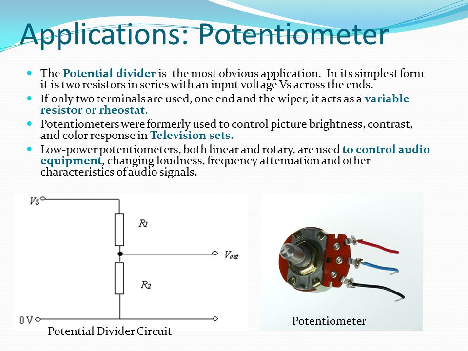 Applications: Potentiometer