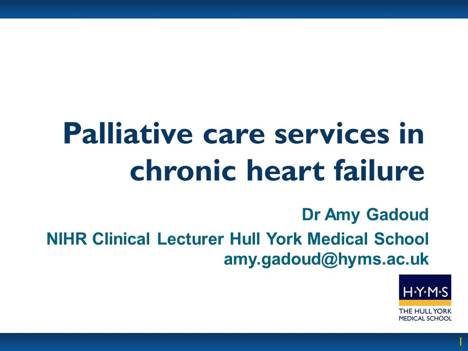 Palliative care services in chronic heart failure