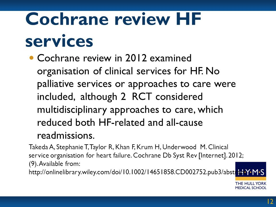 Cochrane review HF services