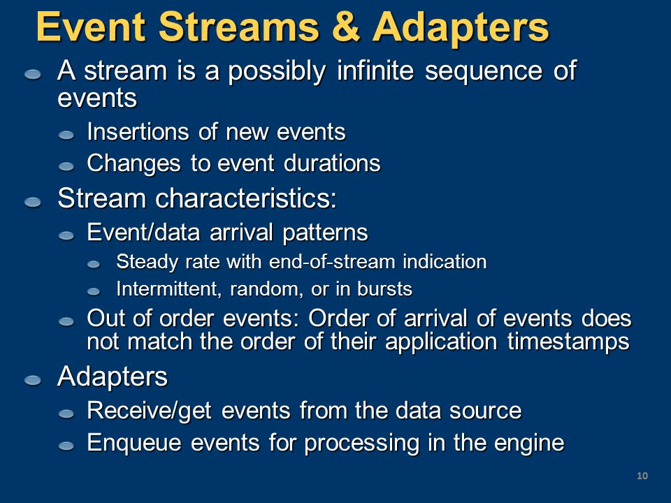 Event Streams & Adapters