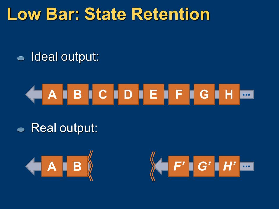 Low Bar: State Retention