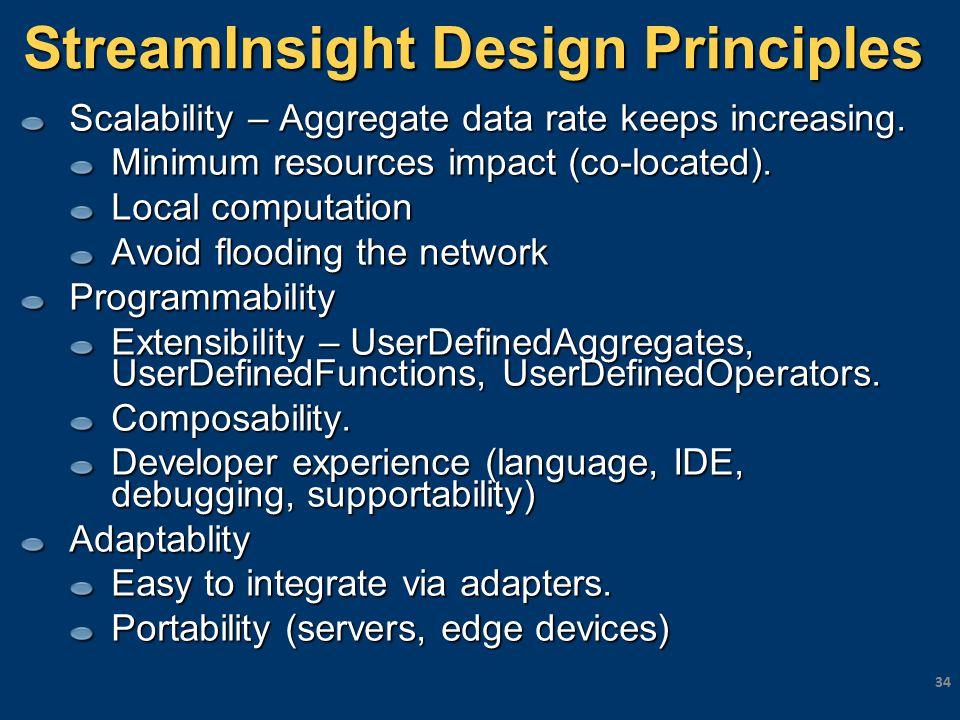 StreamInsight Design Principles