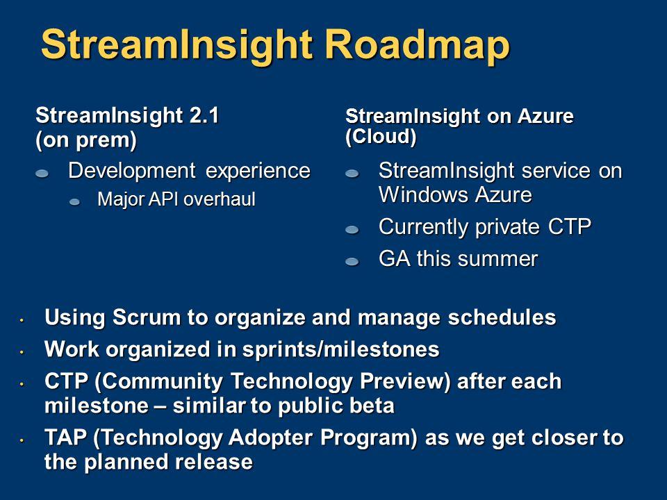 StreamInsight Roadmap