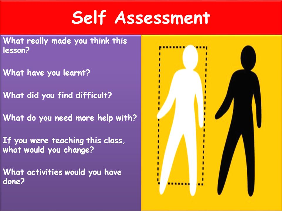 Self Assessment What really made you think this lesson