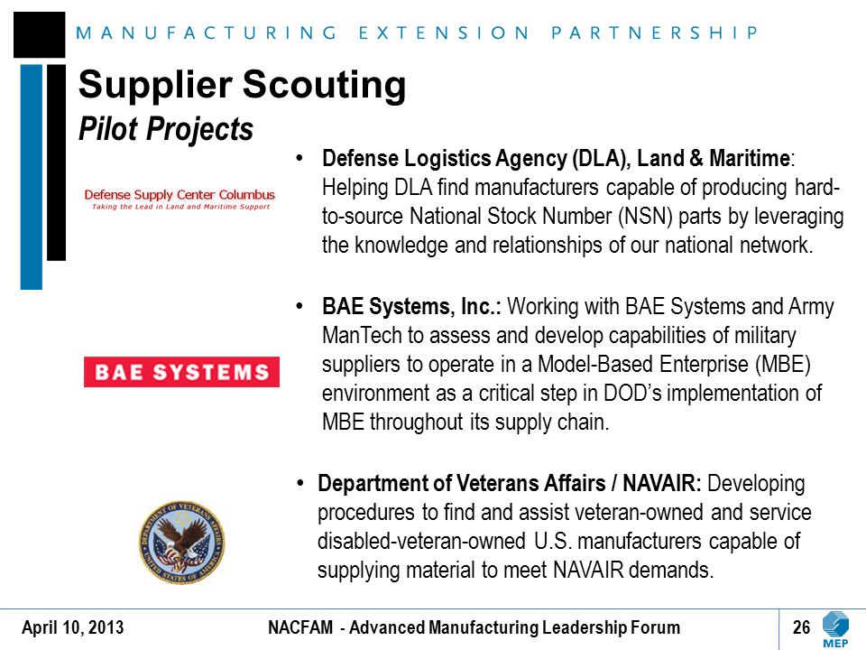 Supplier Scouting Pilot Projects