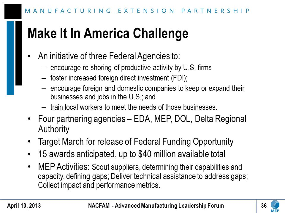 Make It In America Challenge