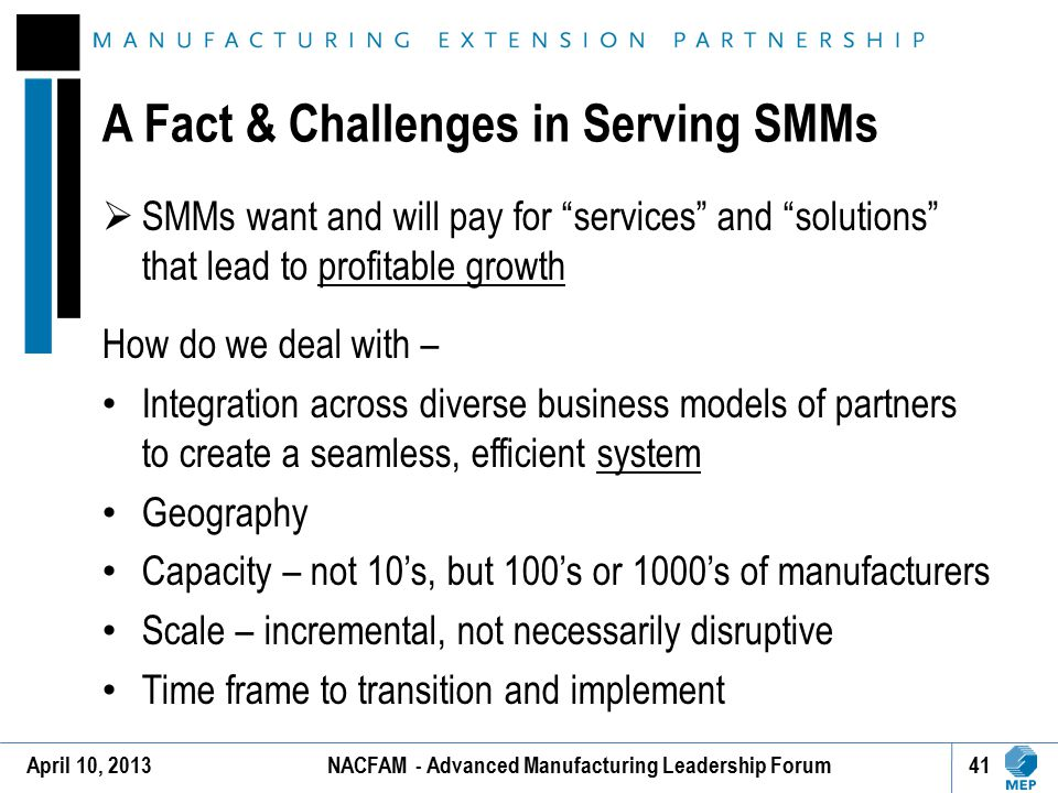 A Fact & Challenges in Serving SMMs