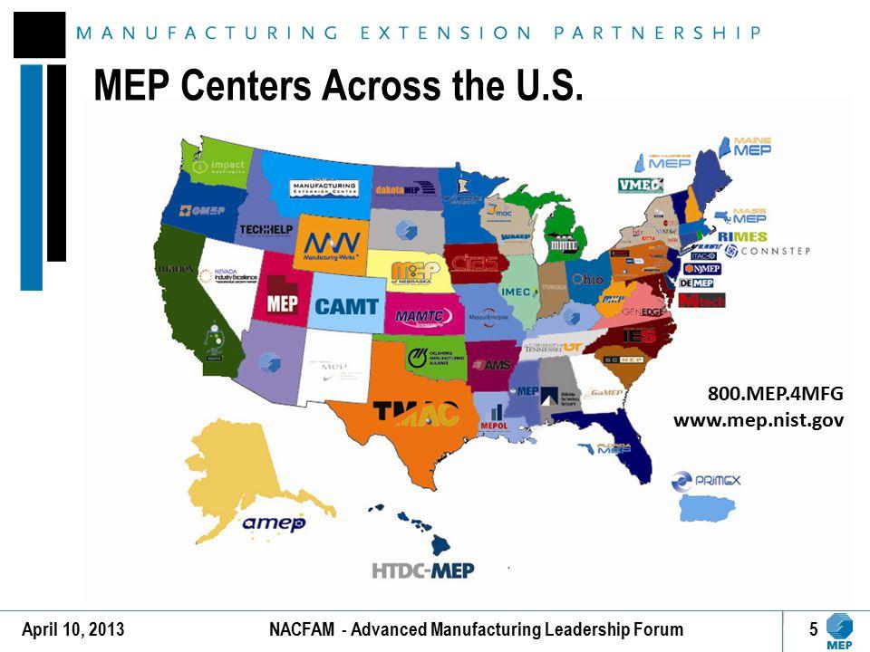 MEP Centers Across the U.S.