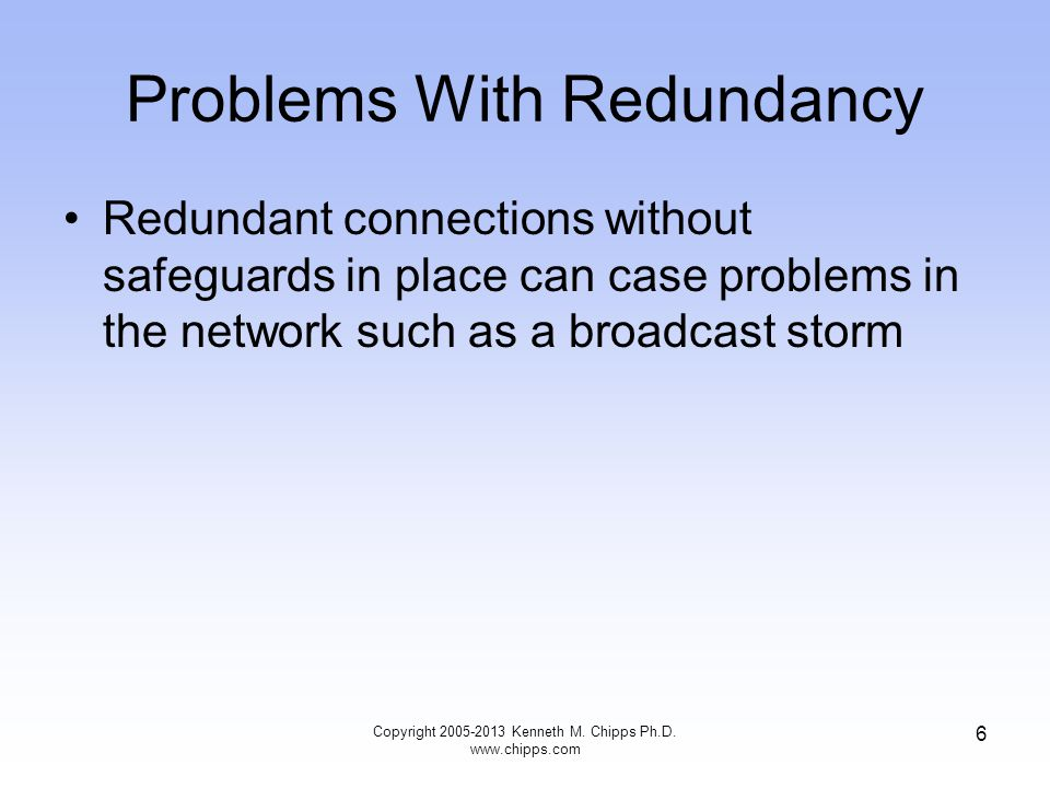 Problems With Redundancy