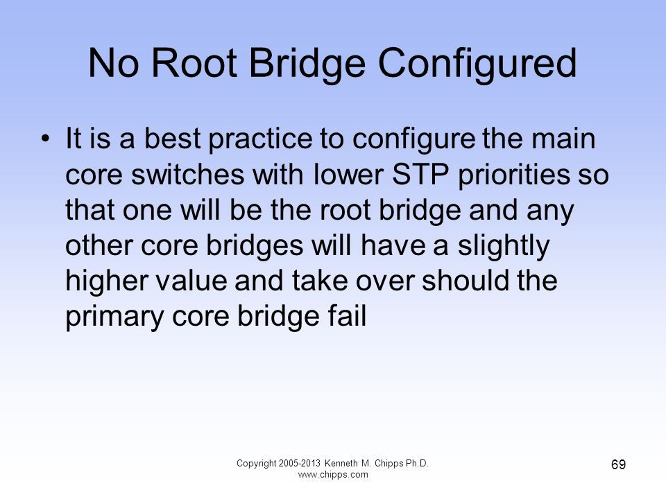 No Root Bridge Configured