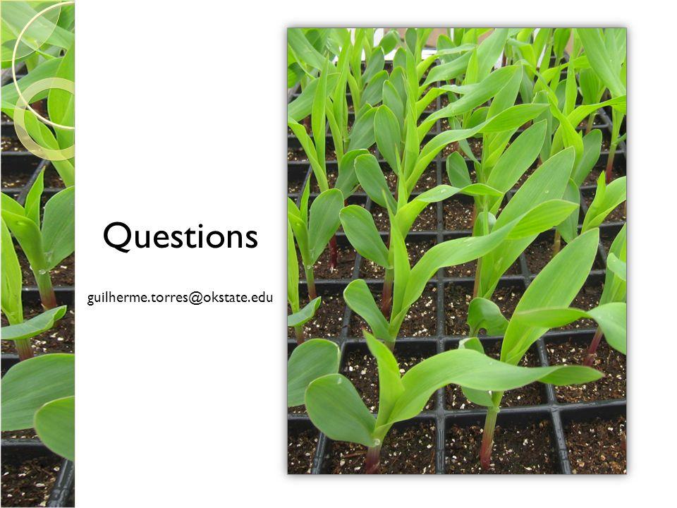 Questions guilherme.torres@okstate.edu