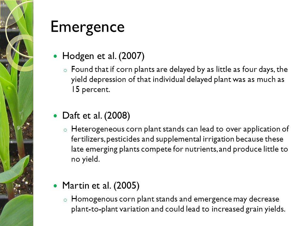 Emergence Hodgen et al. (2007) Daft et al. (2008) Martin et al. (2005)