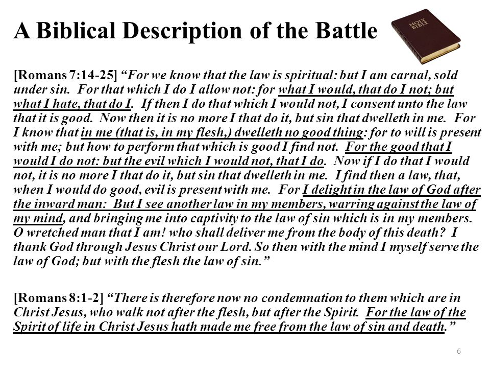 A Biblical Description of the Battle