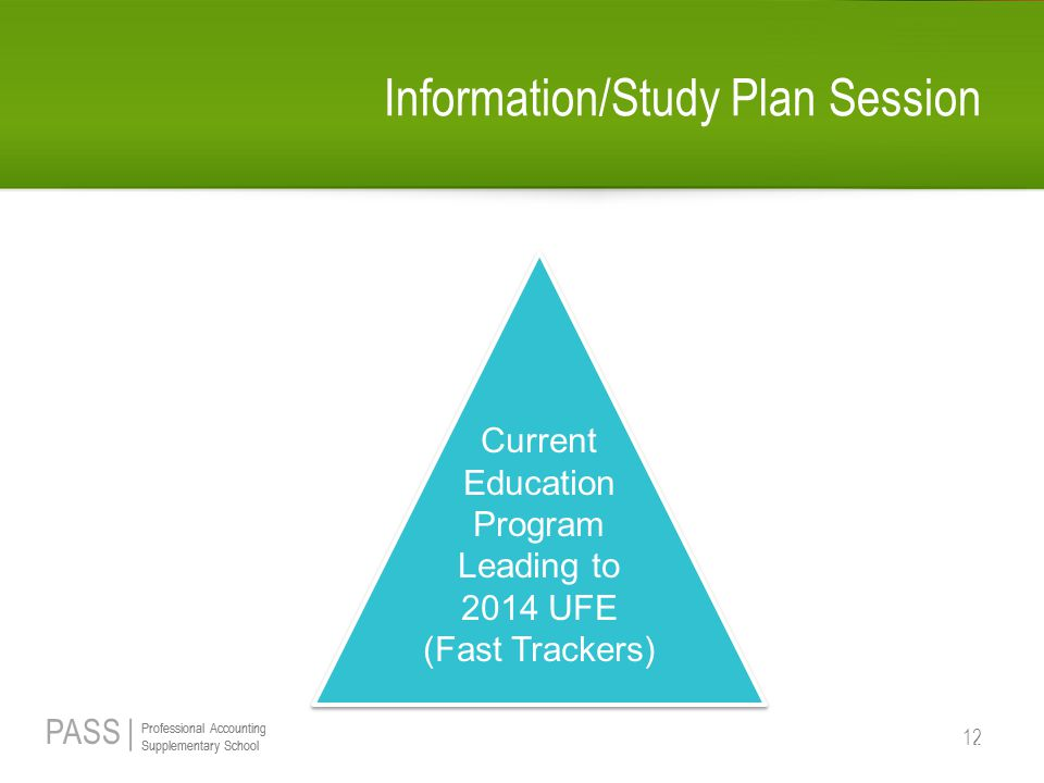 Information/Study Plan Session
