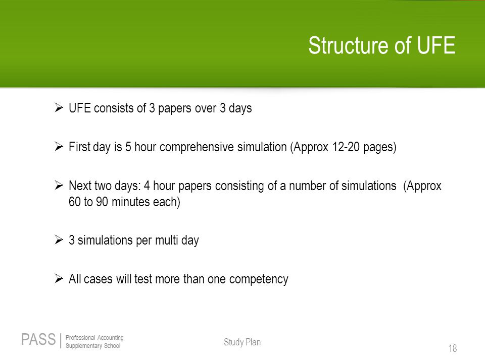 Structure of UFE UFE consists of 3 papers over 3 days