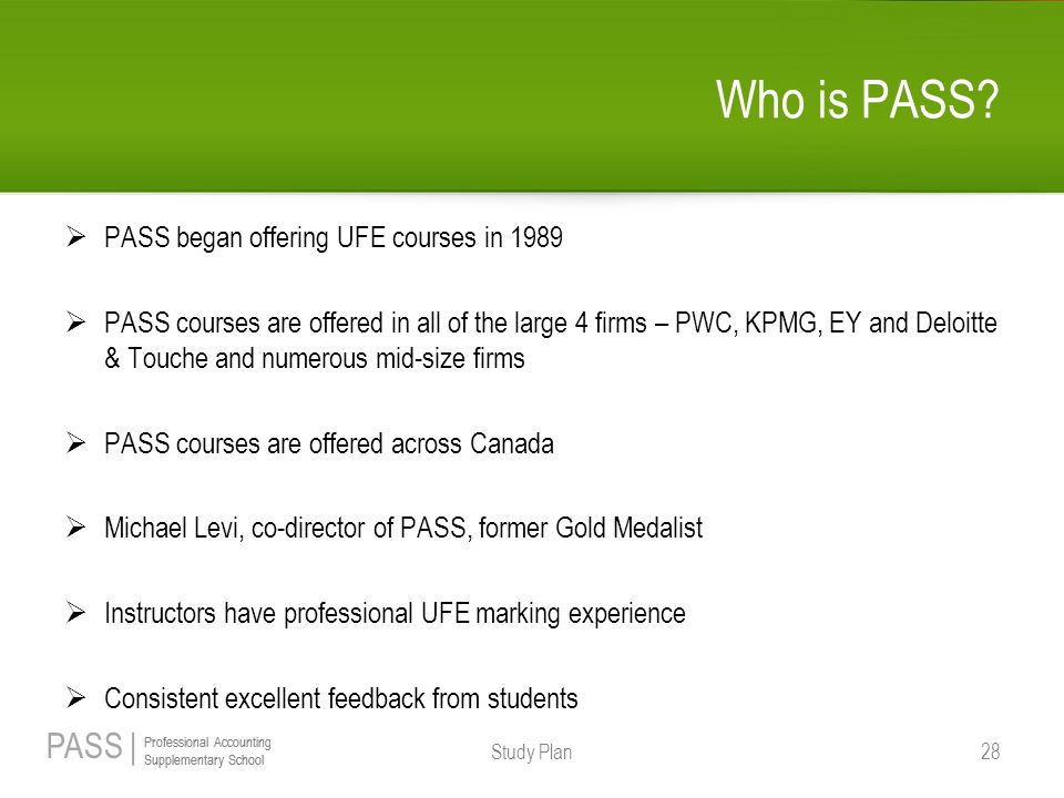 Who is PASS PASS began offering UFE courses in 1989