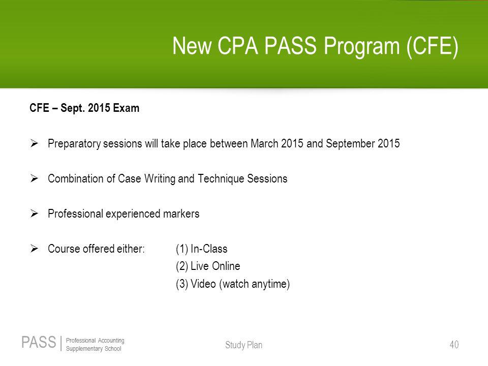 New CPA PASS Program (CFE)