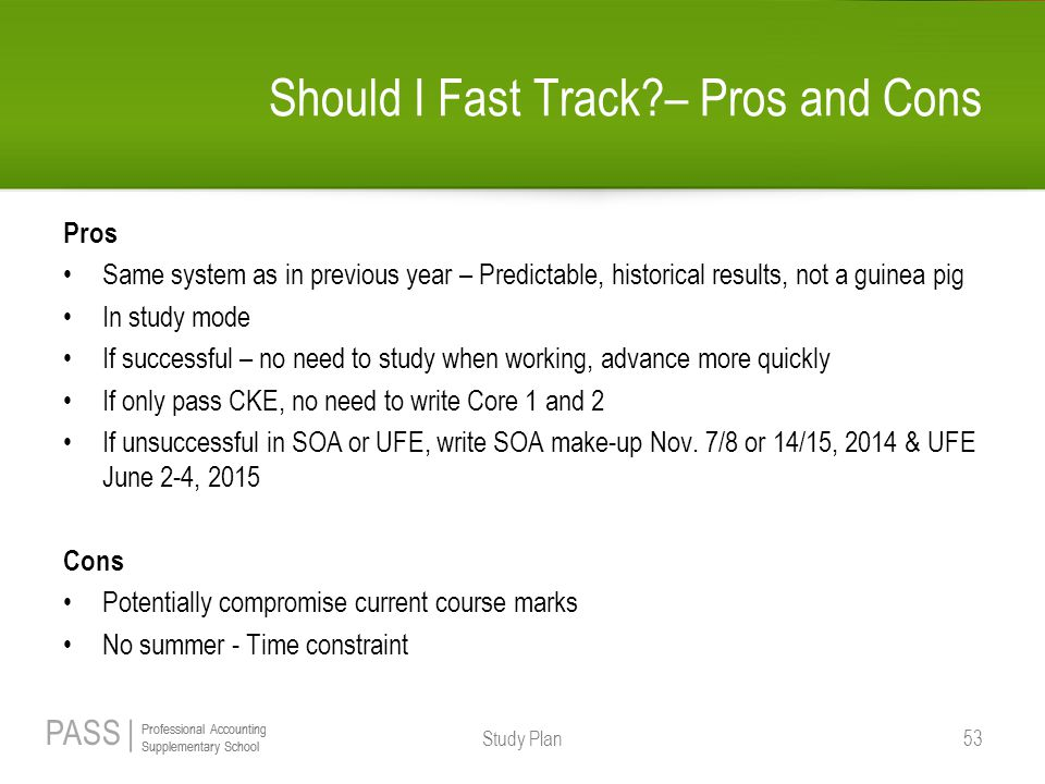 Should I Fast Track – Pros and Cons