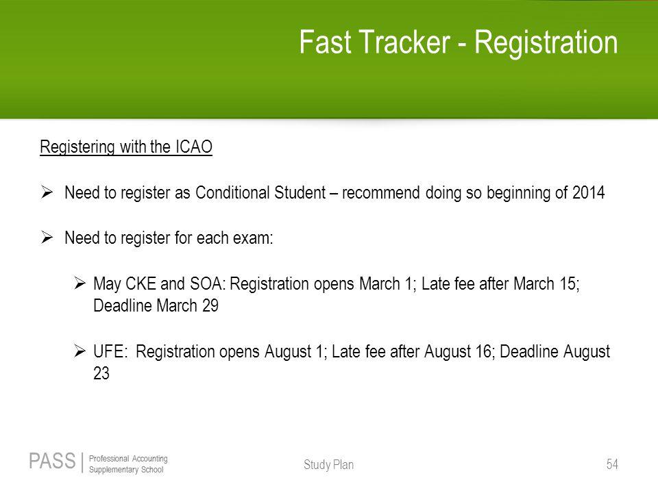 Fast Tracker - Registration