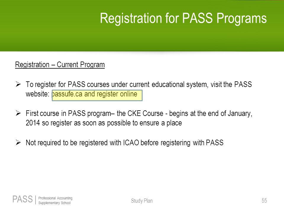Registration for PASS Programs